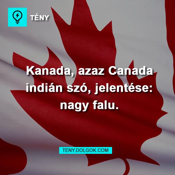 Kanada jelentése